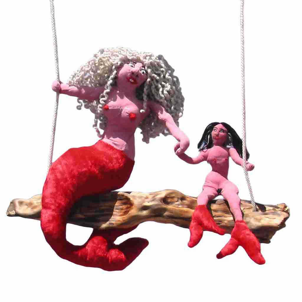 rag doll mermaid sculpture by Emma Plunkett