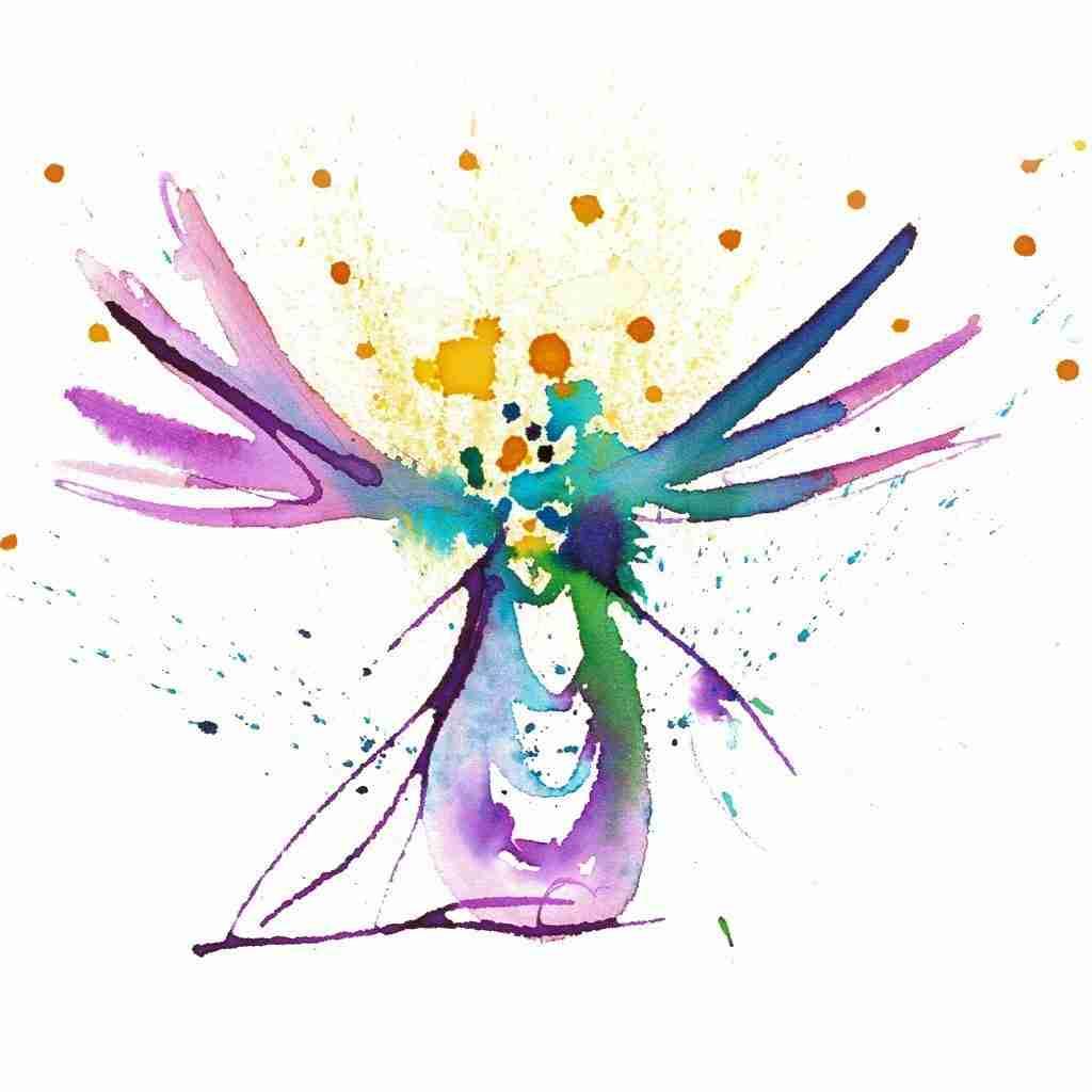 Angel painting by Emma Plunkett
