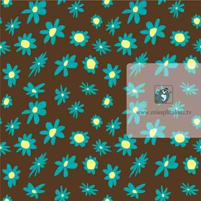 Brown Flower Design by Emma Plunkett