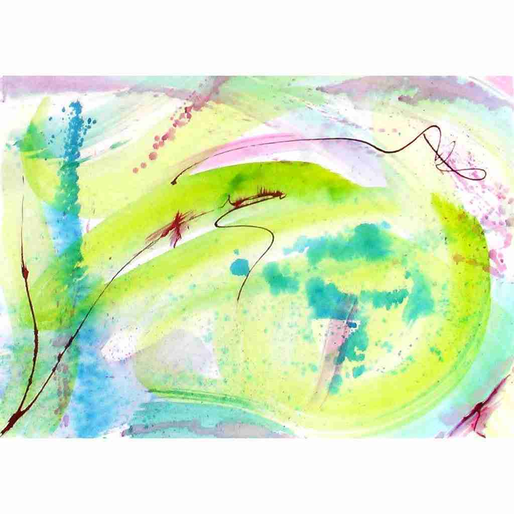 beautiful abstract watercolor by Emma Plunkett