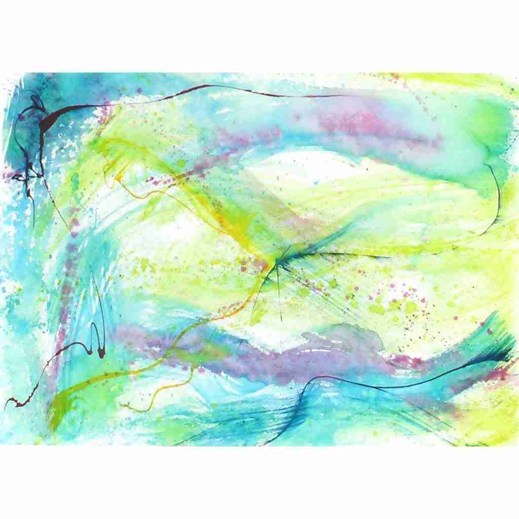 Soft gently abstract watercolour by Emma Plunkett