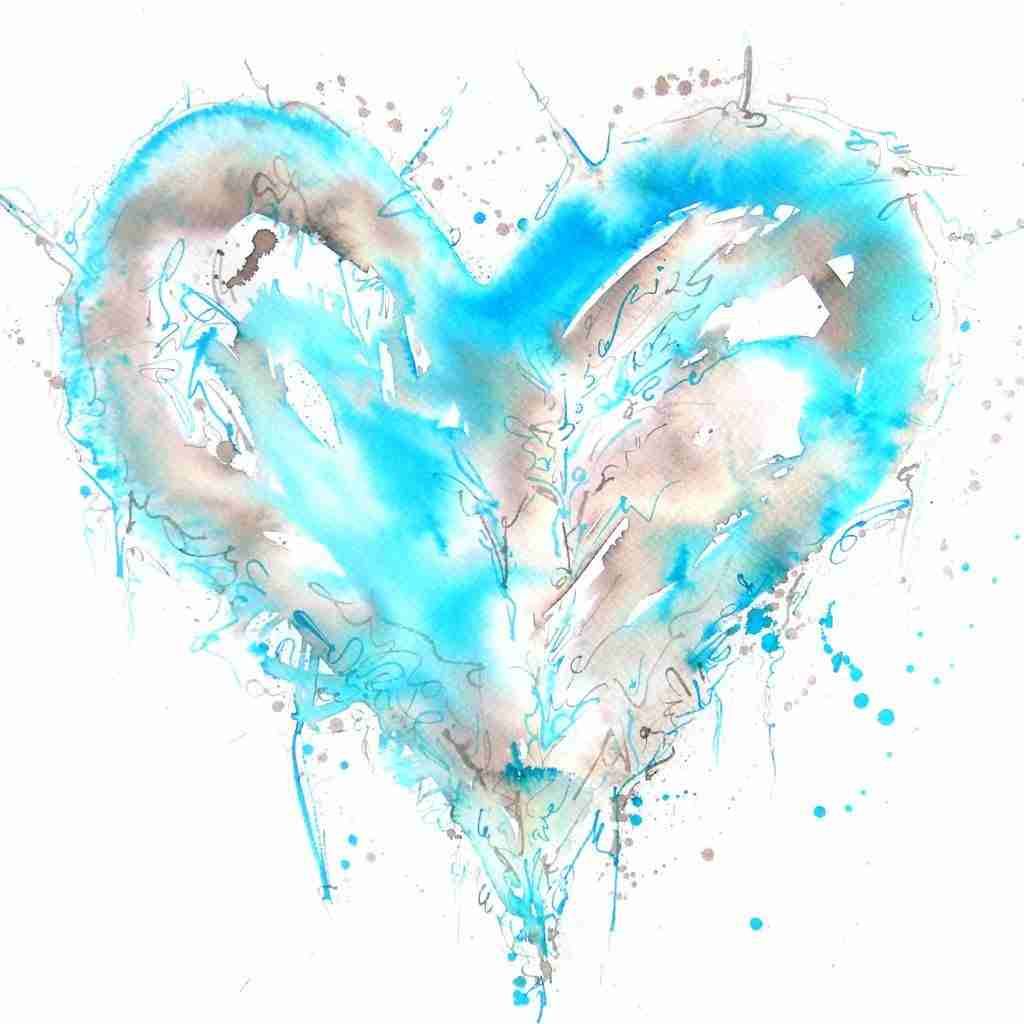 watercolor heart by Emma Plunkett