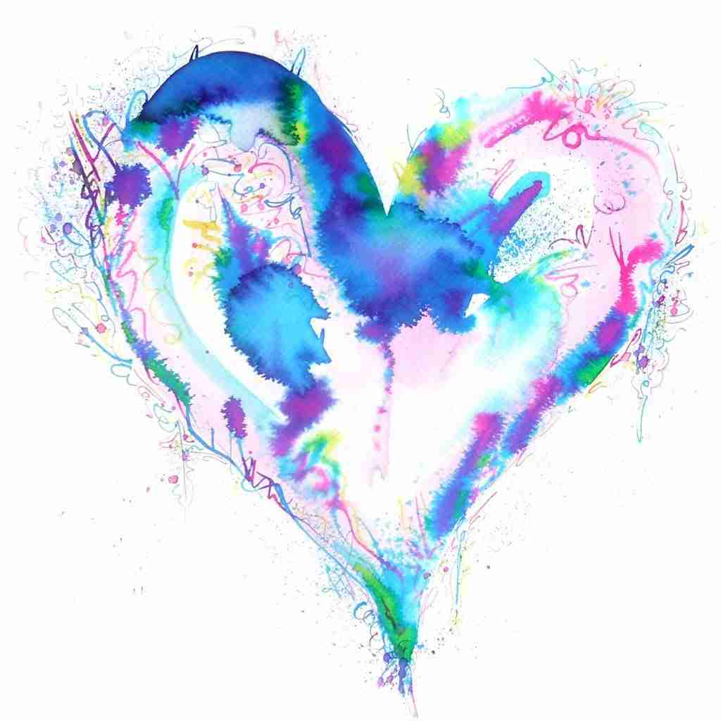 Love Heart painting by Emma Plunkett