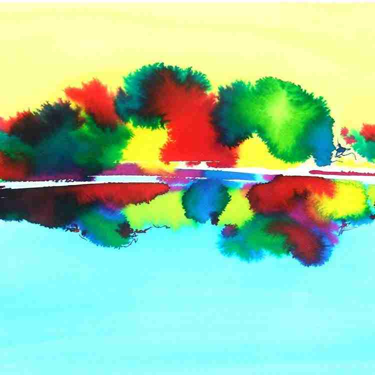 abstract watercolour by Emma Plunkett art