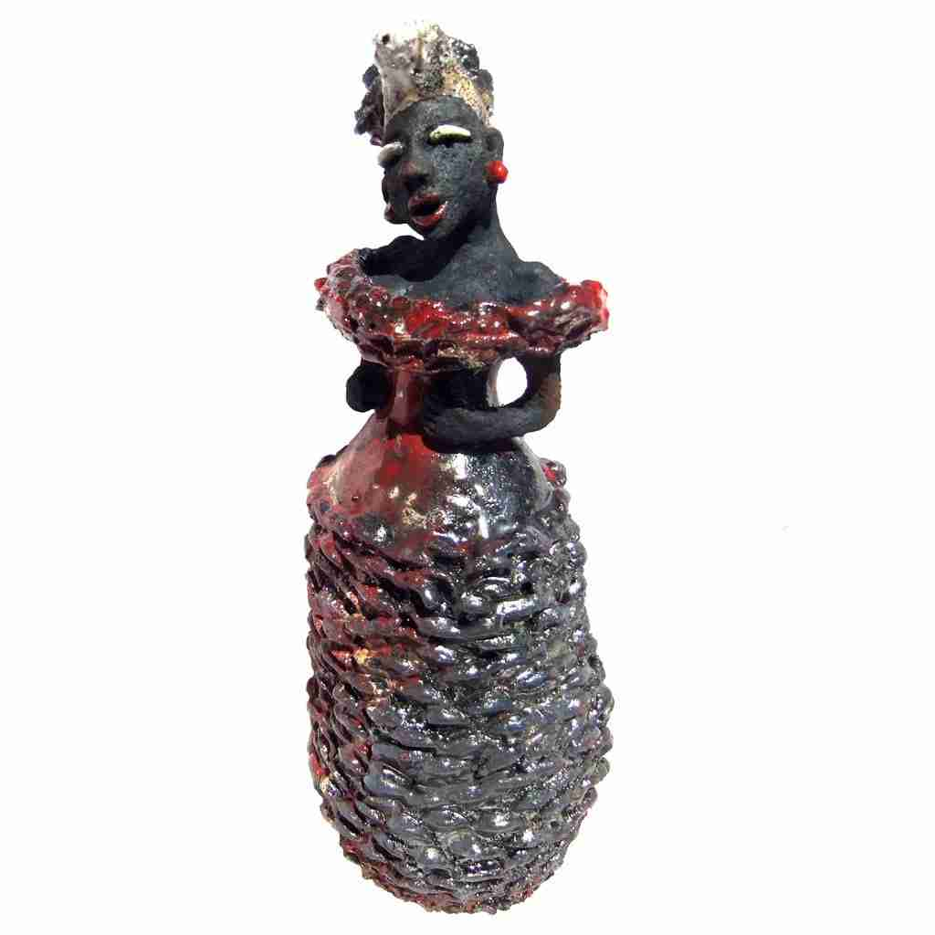 raku fired flamenco sculpture by Emma Plunkett