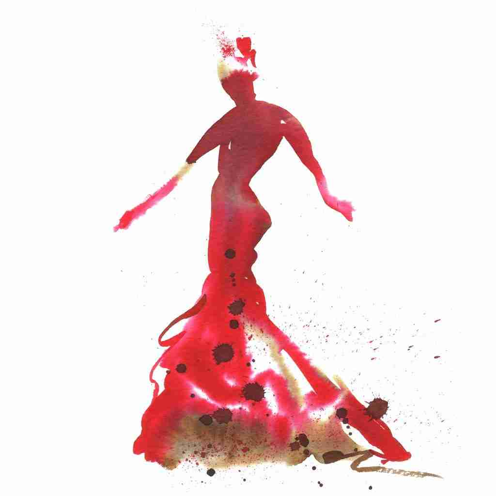 passionate flamenco dancer by Emma Plunkett art
