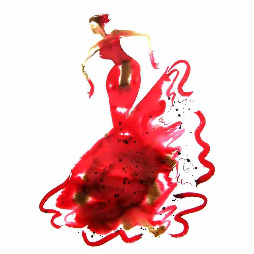 Flamenco dancer by Emma Plunkett