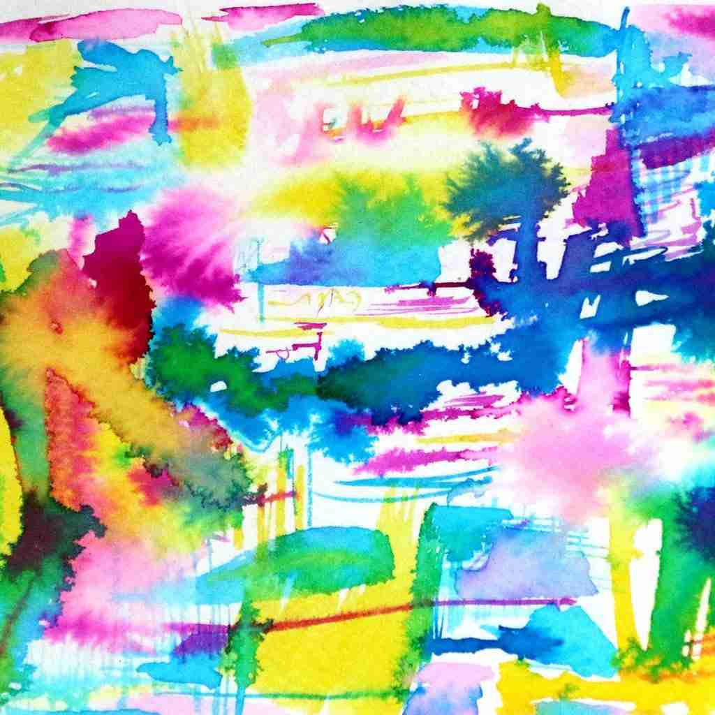 colourful abstract watercolor