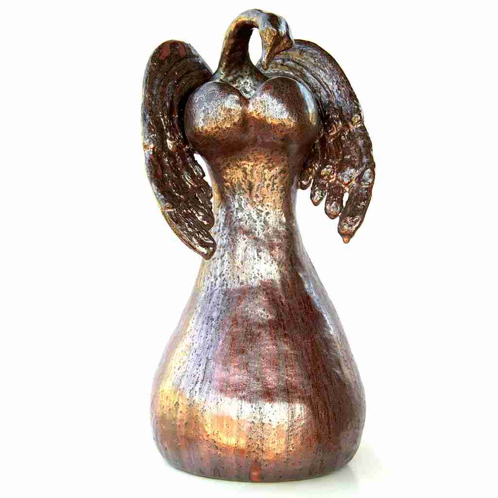 aventurine glazed angel sculpture
