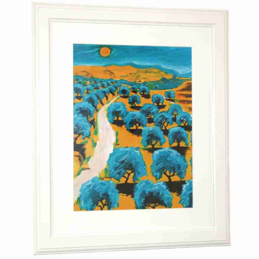 A3 print of an andalucian landscape by Emma Plunket