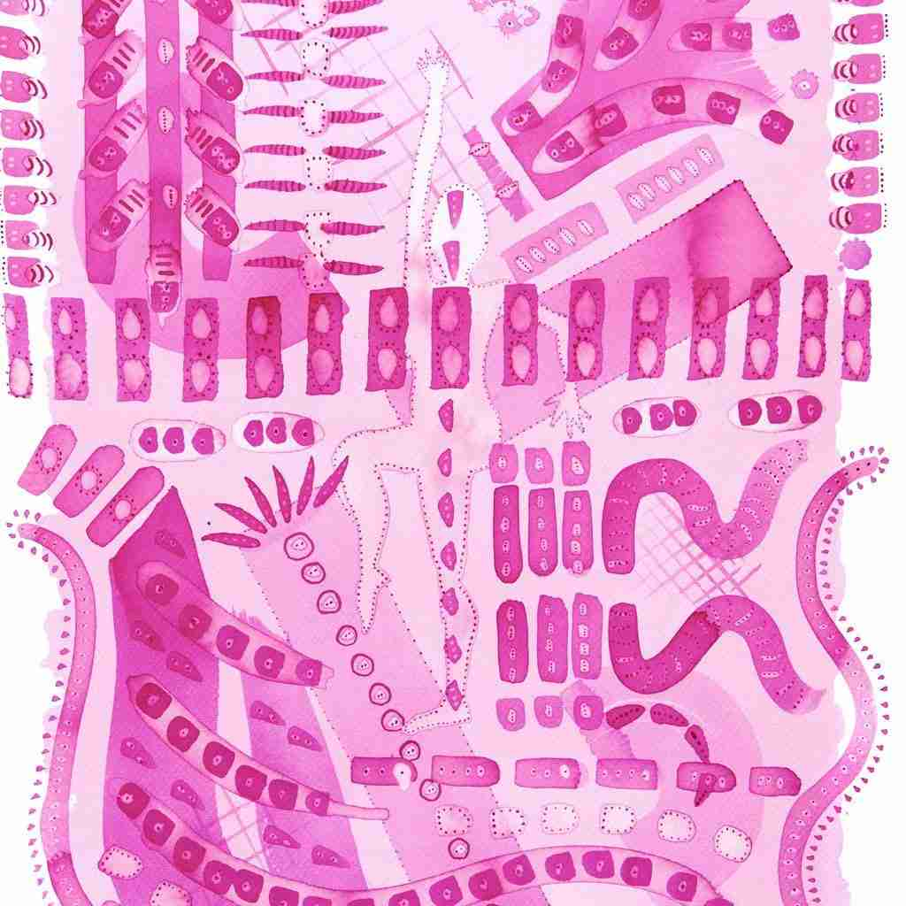 pink abstract watercolour
