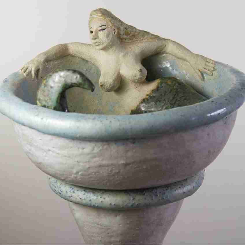 Super erotic bird bath by Emma Plunkett