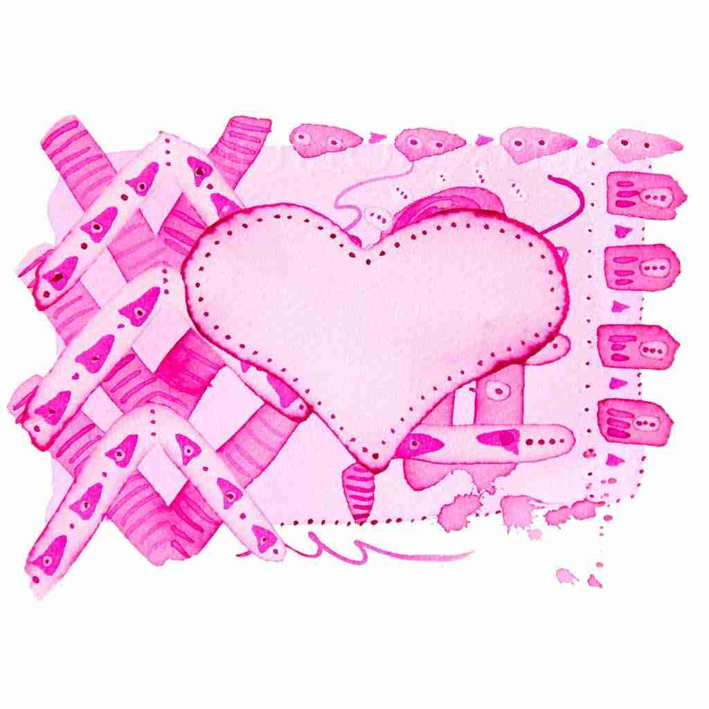 pretty pink abstract heart