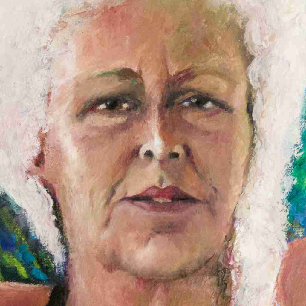 Portrait in oils by Emma Plunkett