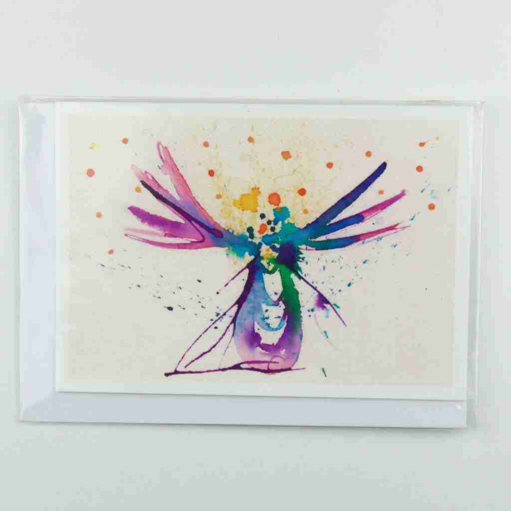 Angel greeting card by Emma Plunkett