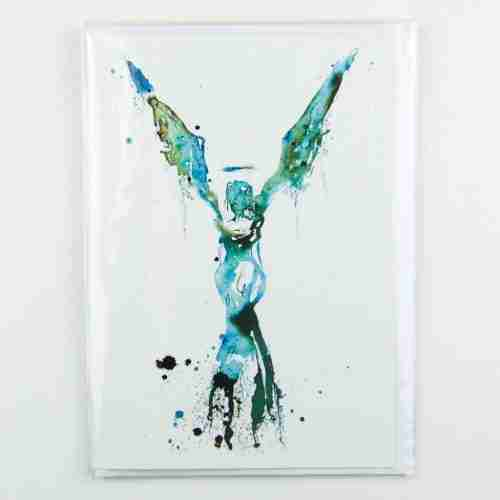 Blue Angel Greeting Card