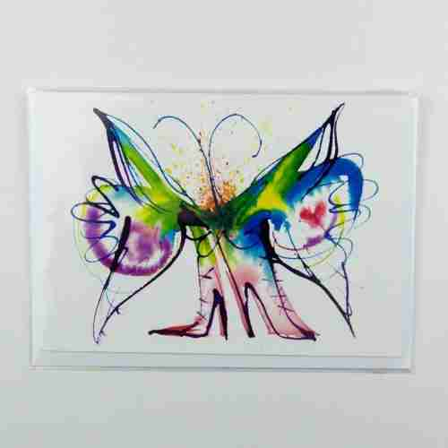 Butterfly Boots Greeting Card
