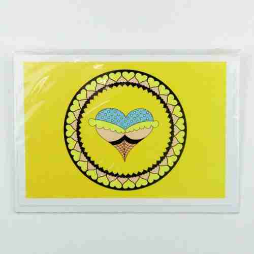 Cheeky Heart yellow knickers Greeting Card
