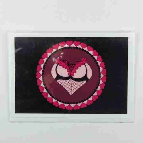 Cheeky Heart Black Knickers Greeting Card