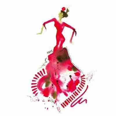 abstract skirt of a flamenco dancer by Emma Plunkett