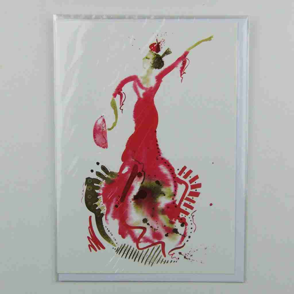 El Vestido de Flamenco 02 Greeting Card