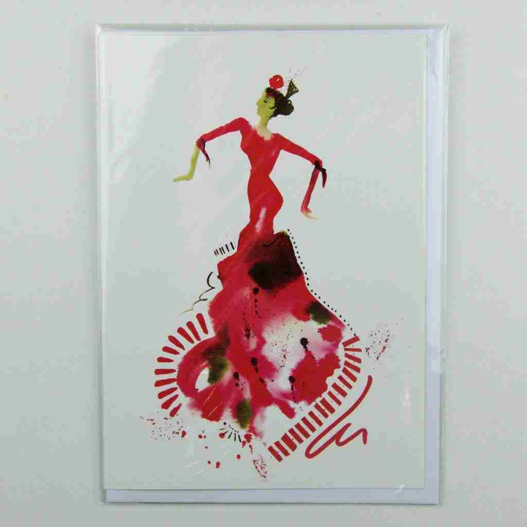 El Vestido de flamenco 03 Greeting Card
