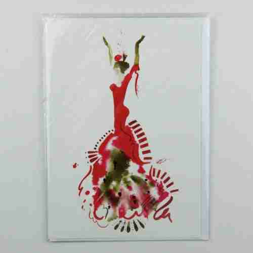 El Vestido de Flamenco 04 Greeting Card