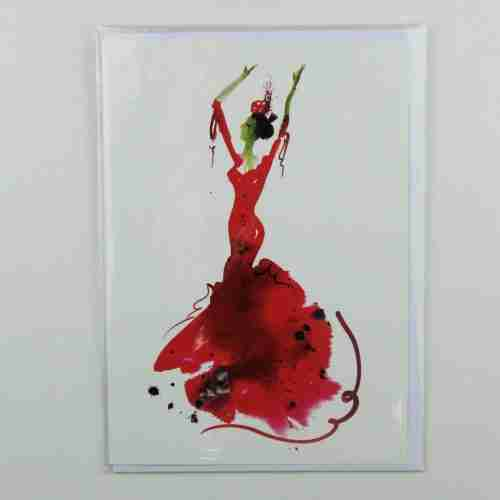 La Bailaora de Flamenco 02 Greeting Card