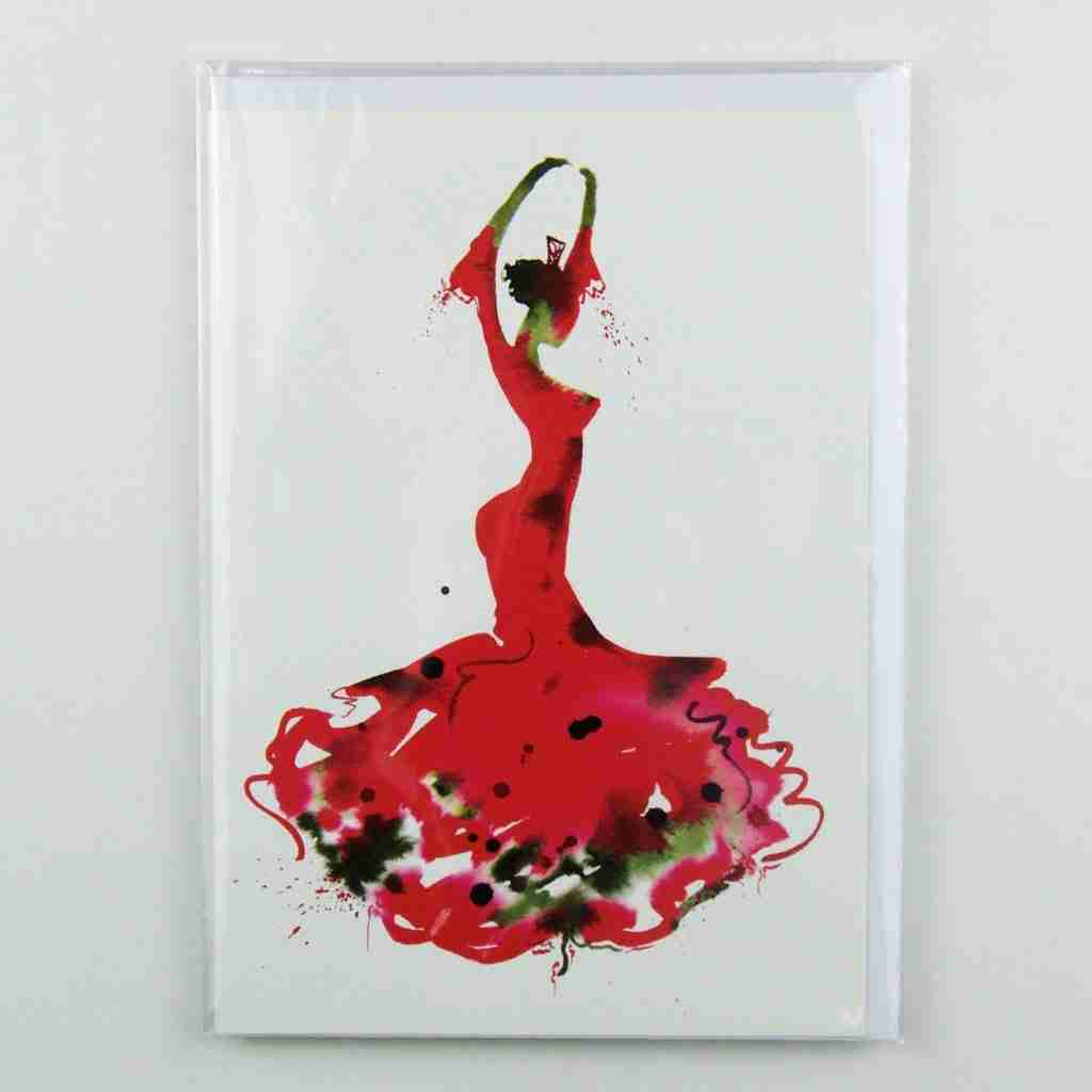 La Bailaora de Flamenco 03 greeting Card