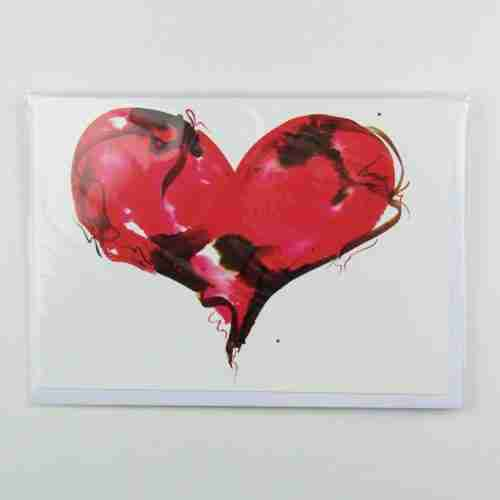 Red Love Heart Greeting Card