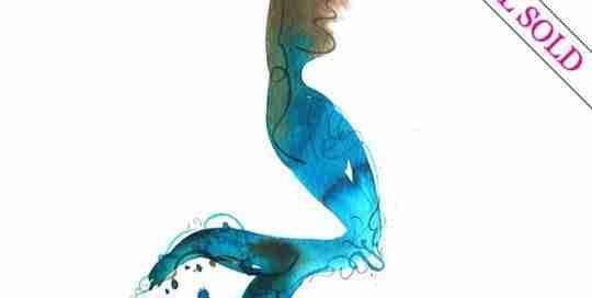 mermaid watercolour by Emma Plunkett art