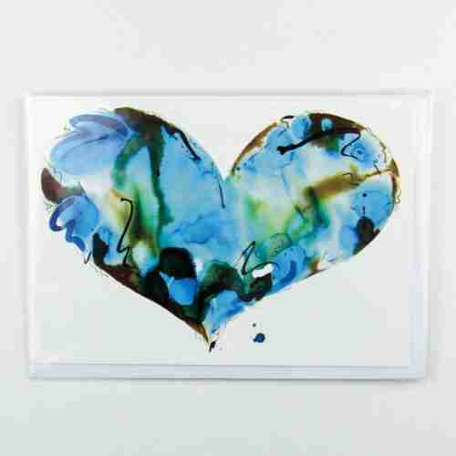 Turquoise Heart Greeting Card