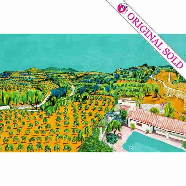 orange groves of southern Spain, painted by Emma Plunkett