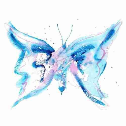 Blue impressionist butterfly license emma plunkett art