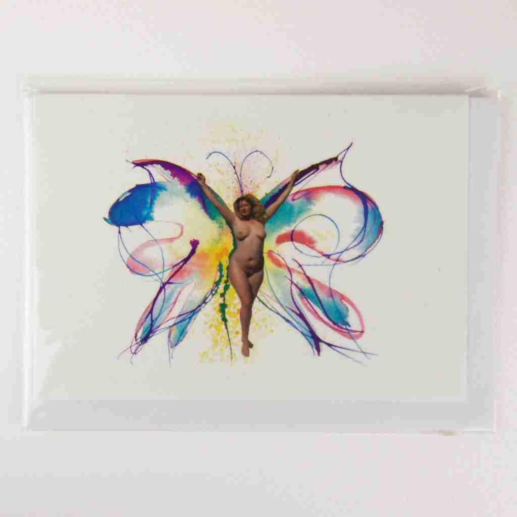Butterfly nymph greeting card by Emma Plunkett