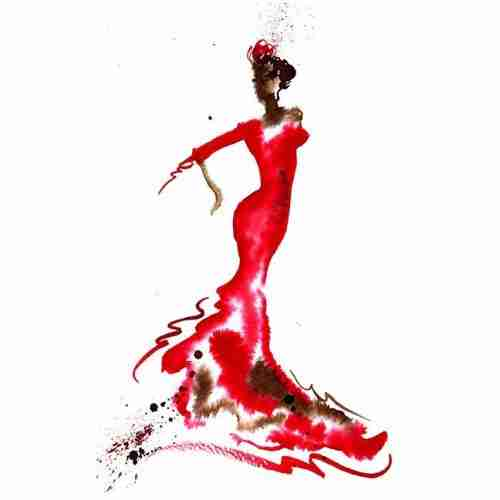 high resolution file of a flamenco dancer