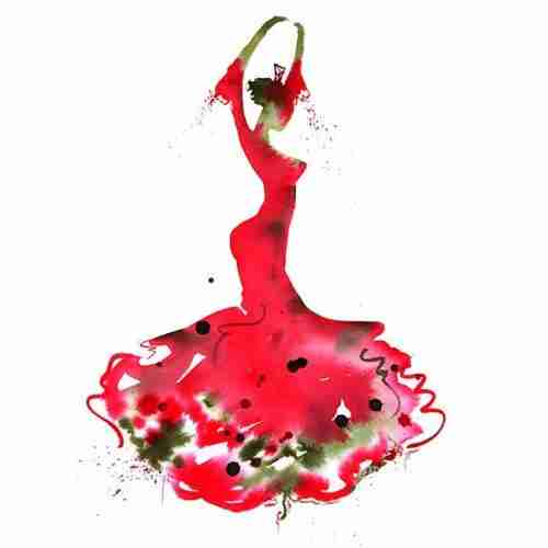 flamenco dancer watercolour
