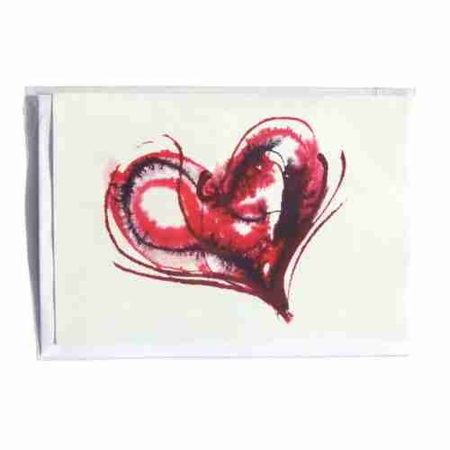 Bleeding Heart Greeting Card by Emma Plunkett