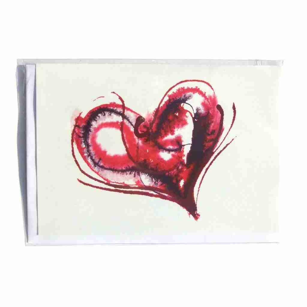 Bleeding Heart Greeting Card by Emma Plunkett