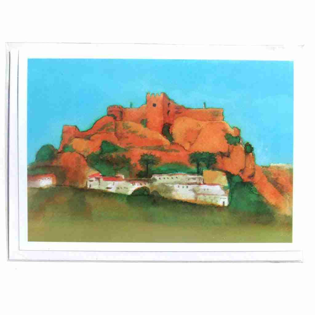 Salobrena castle watercolour, gift card
