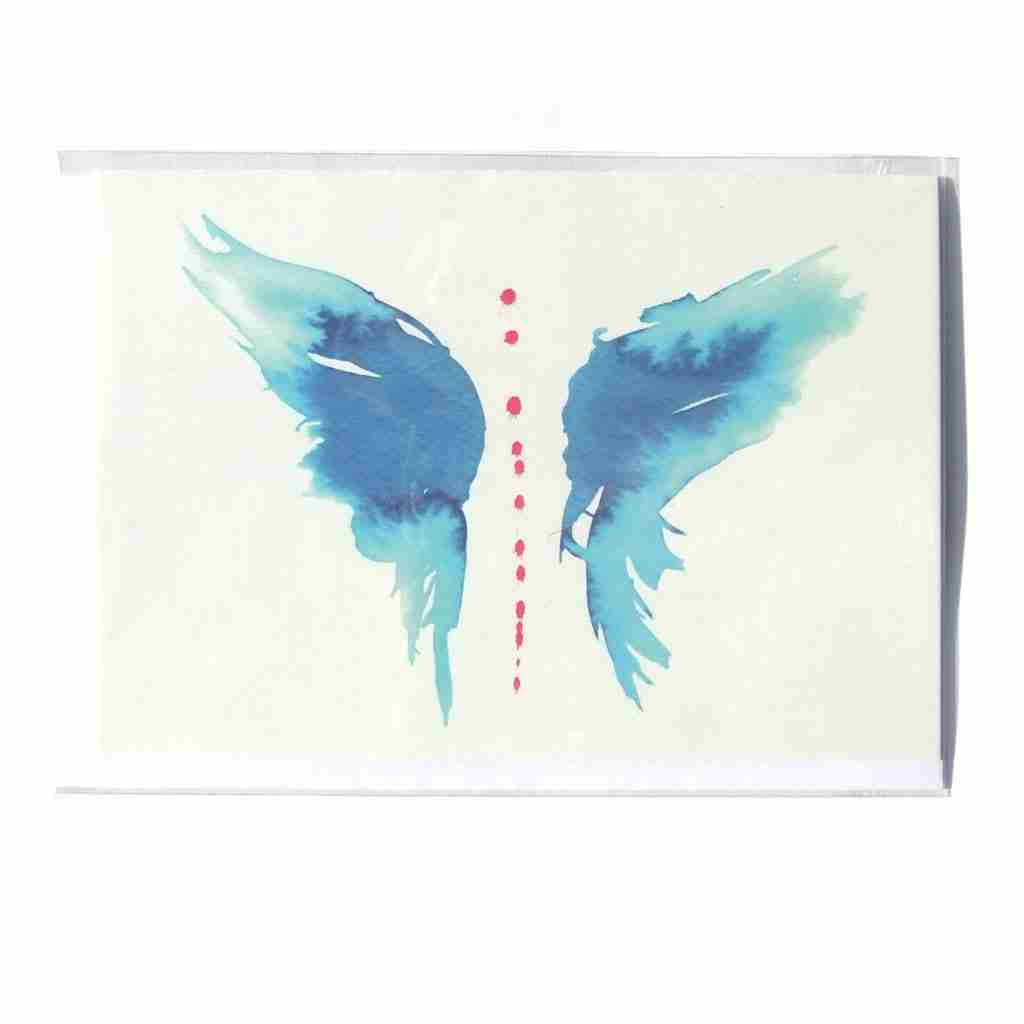 watercolour blue butterfly gift card