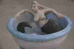 Lucy, Stoneware bird bath