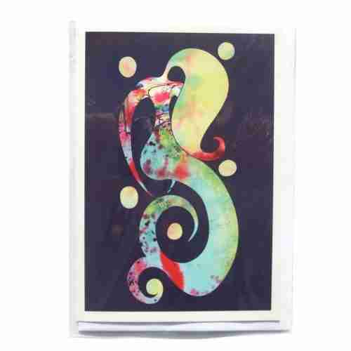 watercolour mermaid gift card by Emma Plunkett