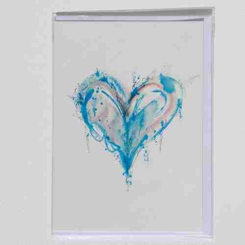 A popular blue watercolour heart