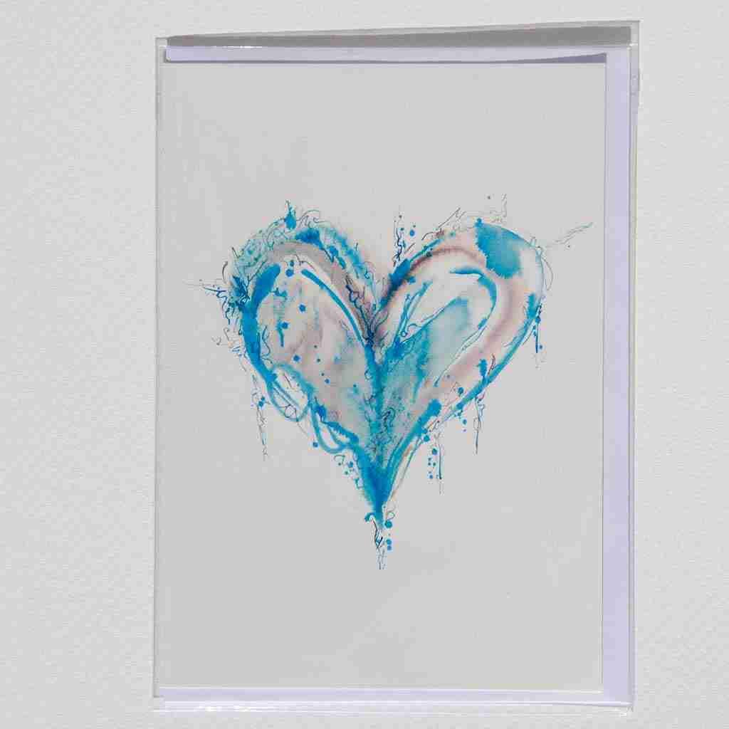 A popular blue watercolour heart