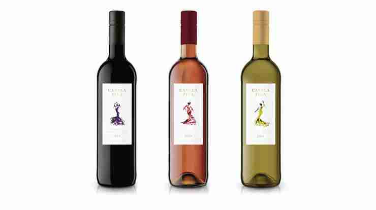 Flamenco wine bottles - Emma Plunkett's Art