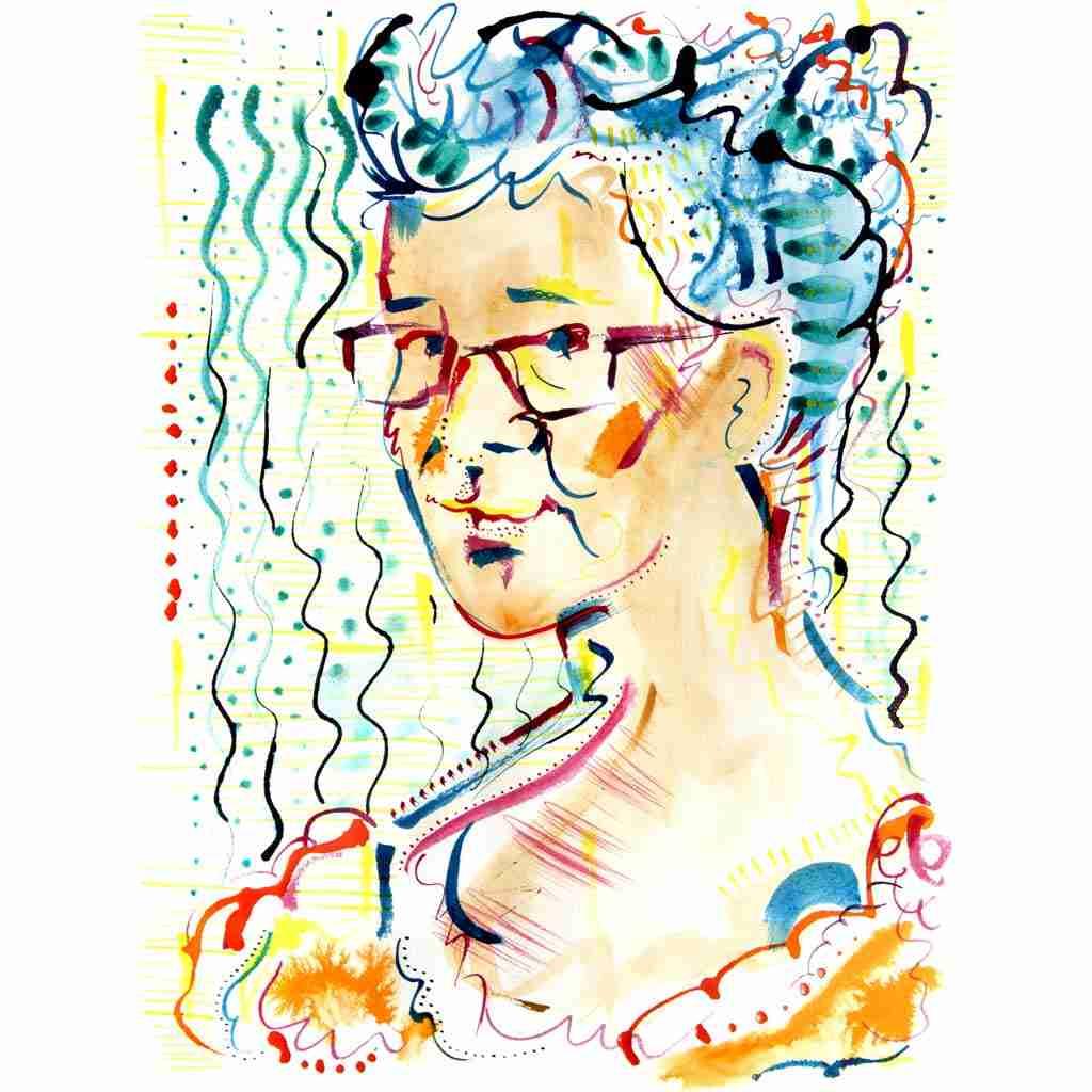 Emma Plunkett art self portrait