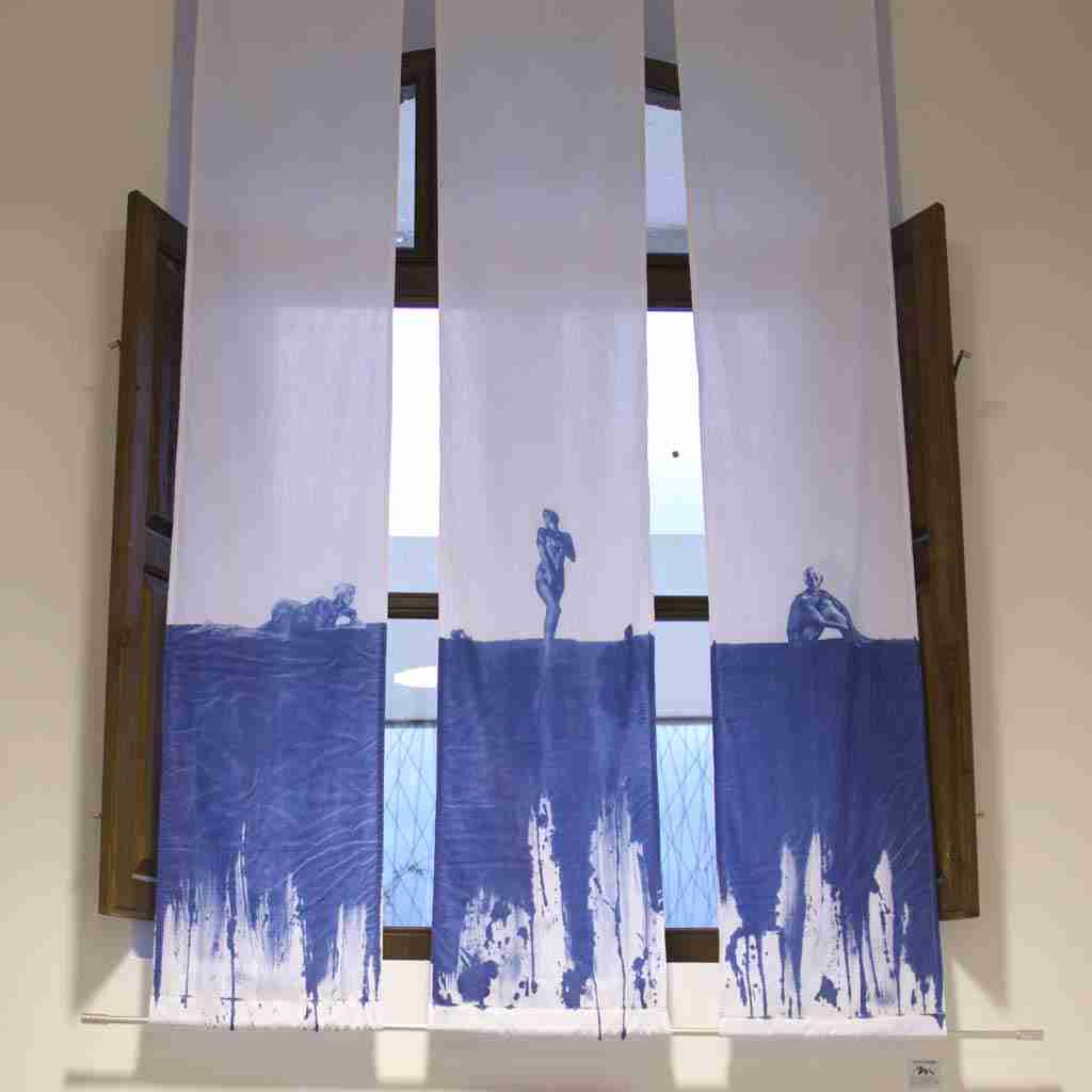 cyanotype print of fabric