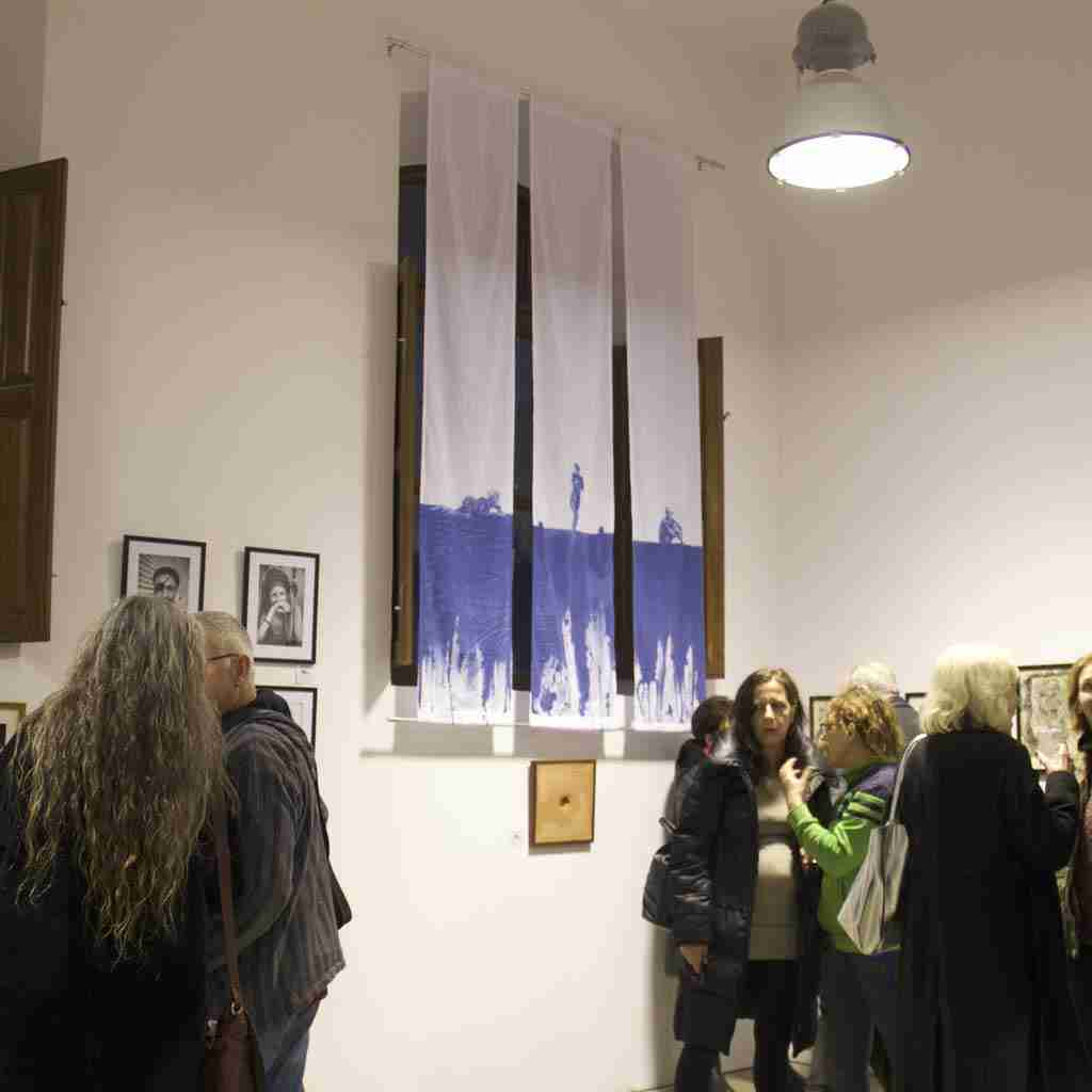 cyanotype fabric banners