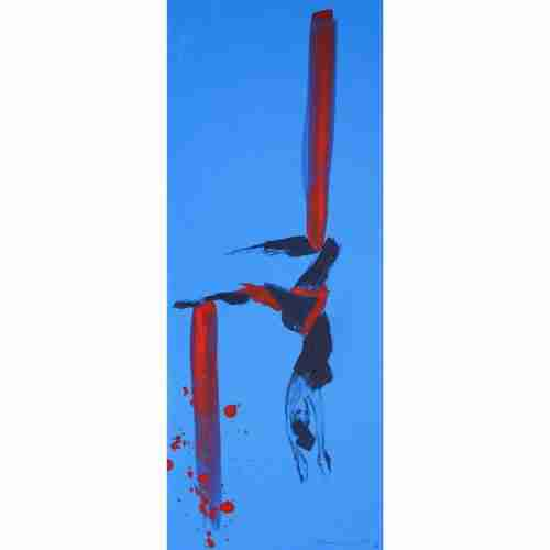 Aerial performance art painting